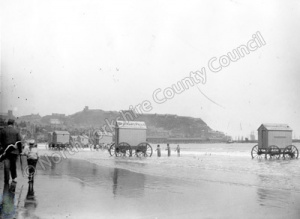 Bathing Machines, South Sands, Scarborough